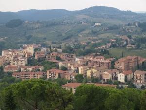 Tuscany landscape from San Gimignano